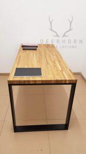 biurko dębowe loft office