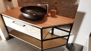 konsola metalowa pod umywalkę