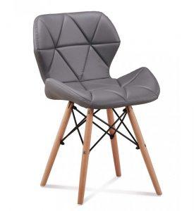 szare krzesło tapicerowane