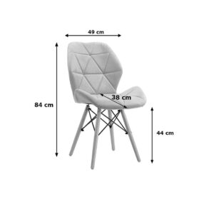 "jasno szare ""skandi chair big"""