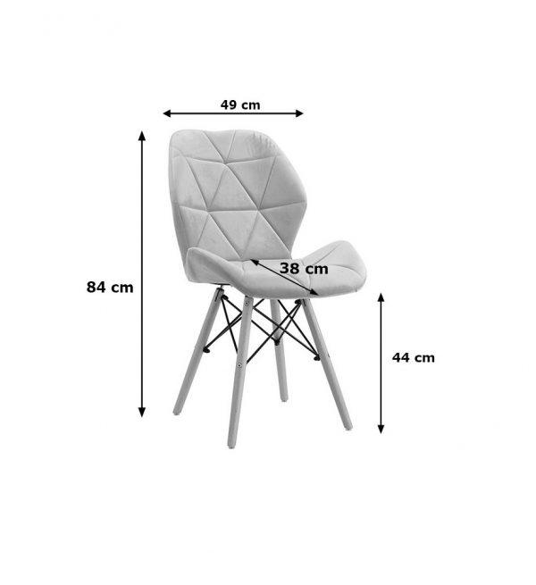 "jasno szare ""skandi chair big"""