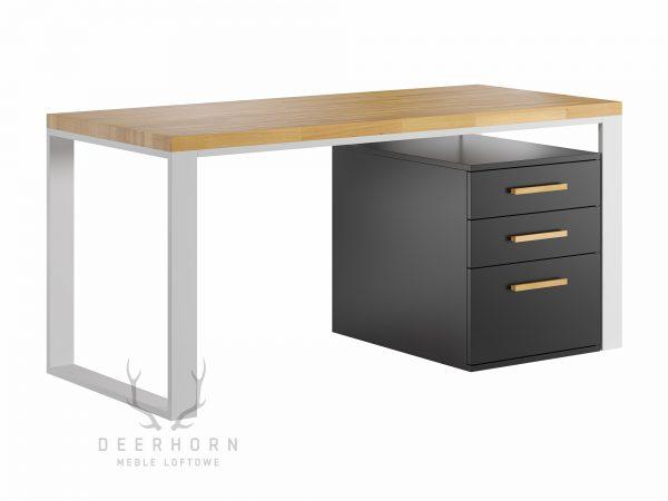 biurko loftowe białe