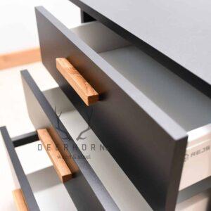czarna szafka z szufladami
