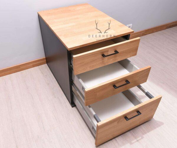 loftowa, biurowa szafka z szufladami