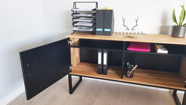 szafka z drewna do biura