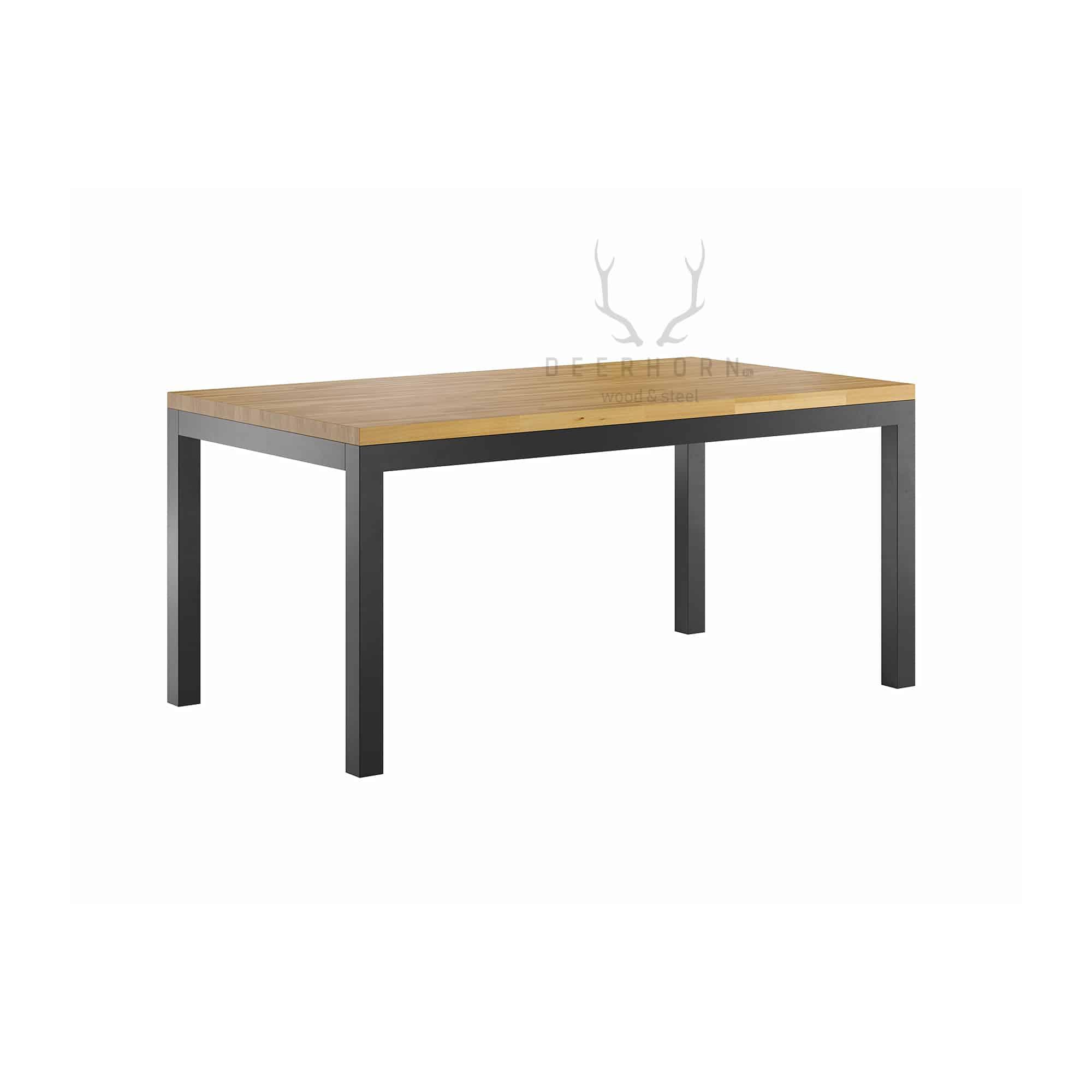 klasyczny stół z drewnianym blatem