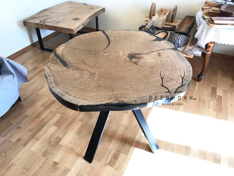 stół zpnia drewna
