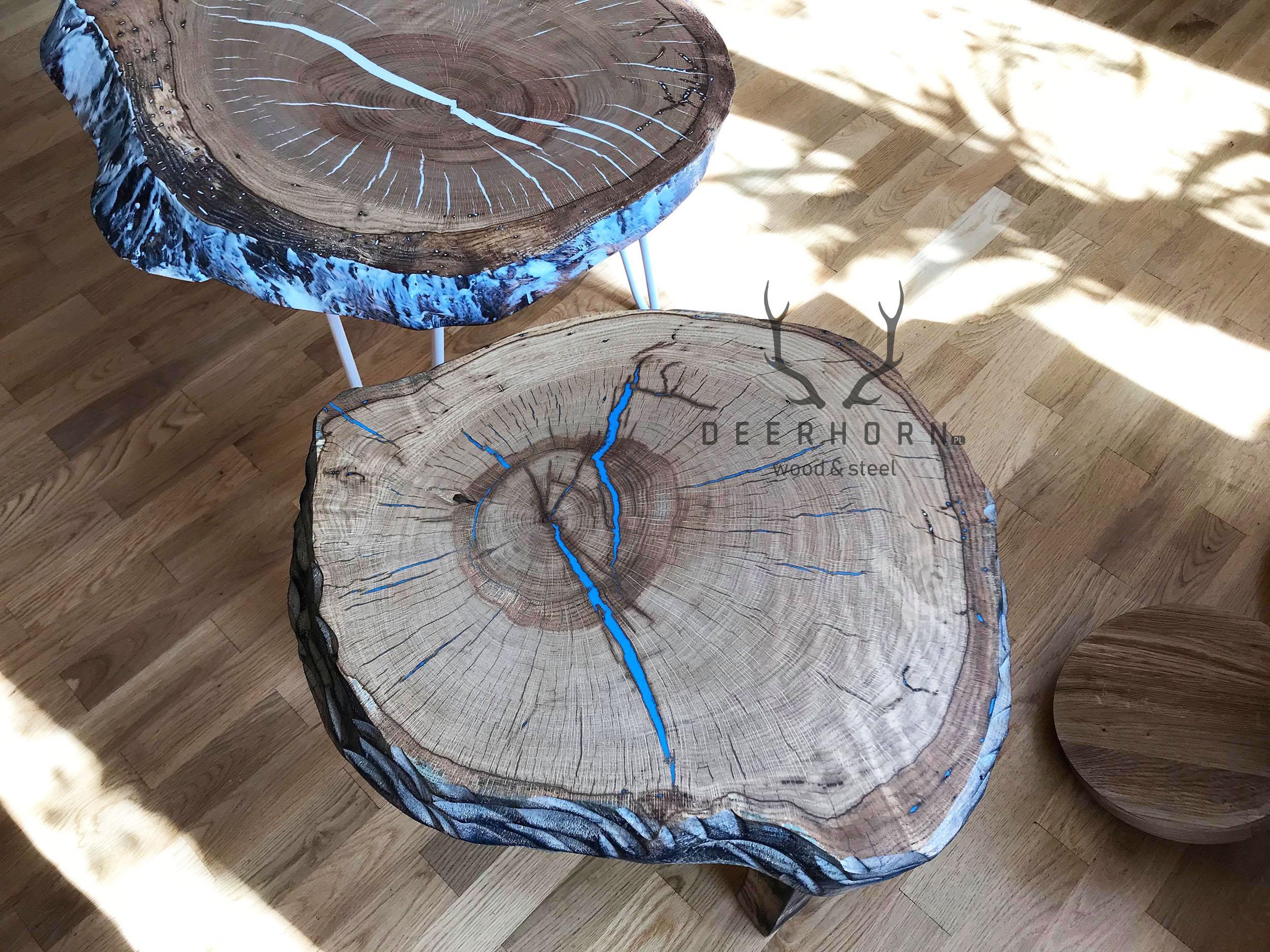 stoliki z pnia drewna