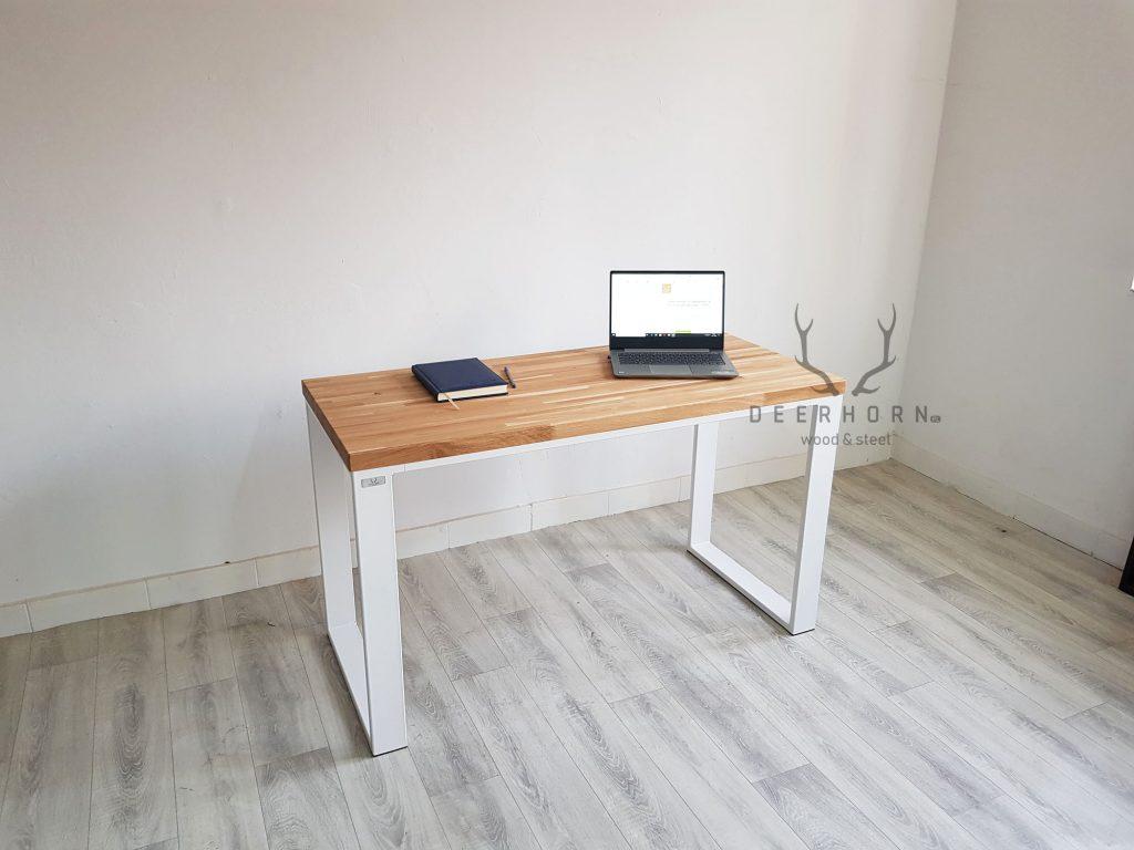 biurko loft z drewna i metalu