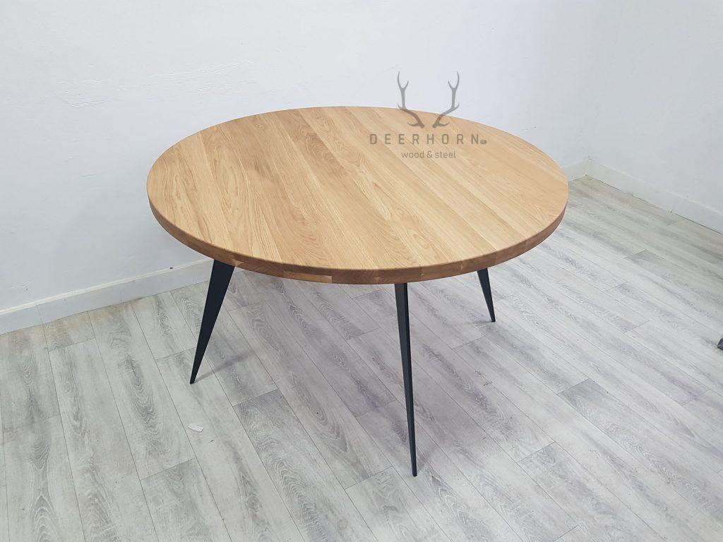 okrągły stół zdrewna