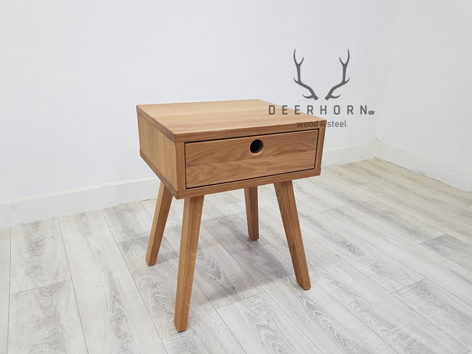 modna szafka nocna z drewna
