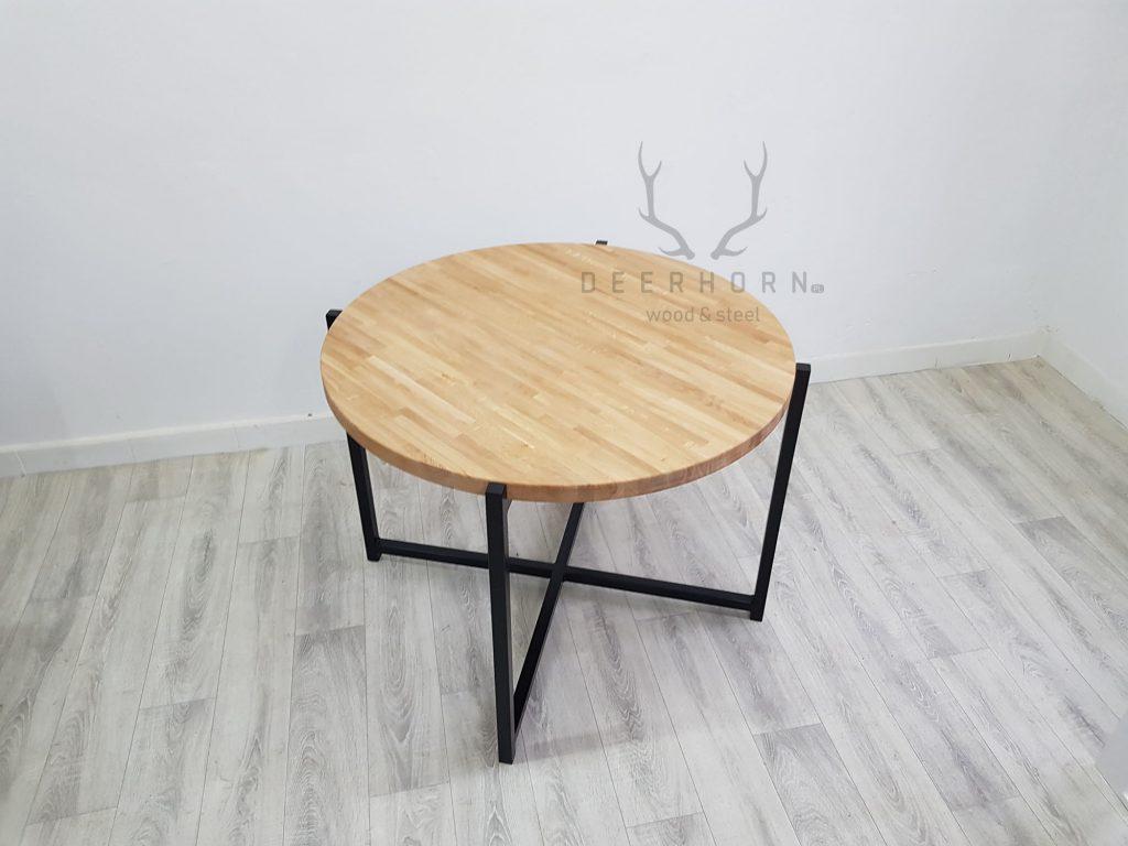 dębowy okrągły stół