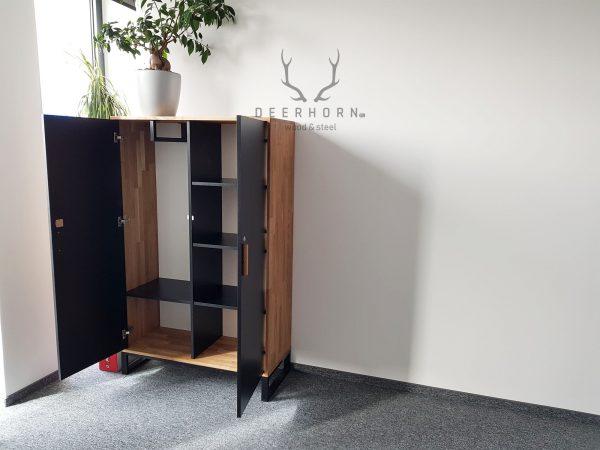 meble z drewna i metalu do gabinetu i biura
