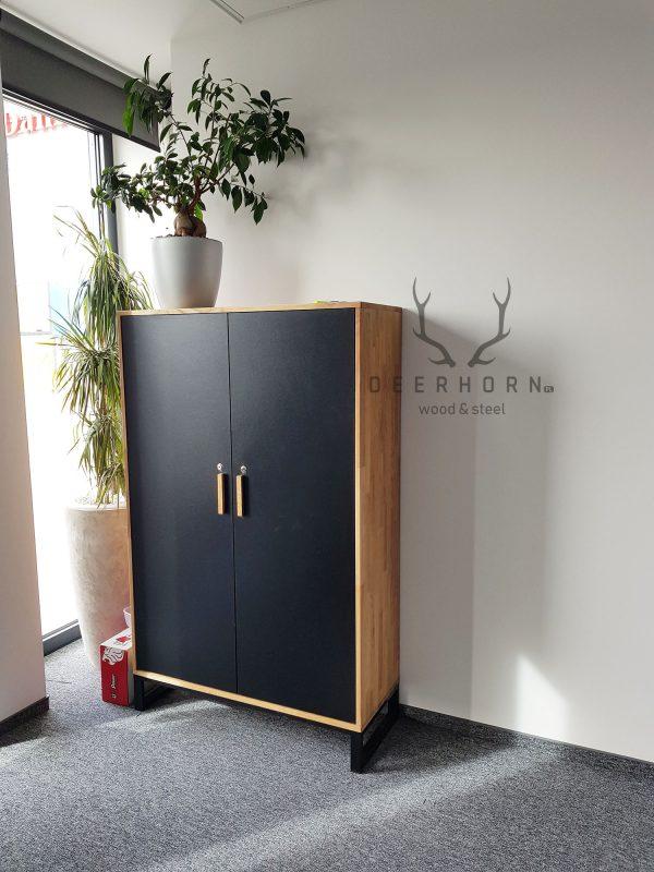 szafa z drewna do biura lub gabinetu