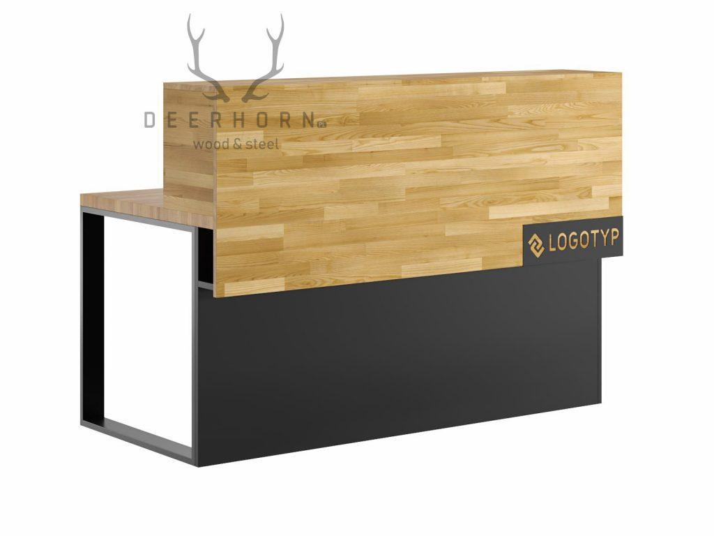 biurko loftowe znadstawką