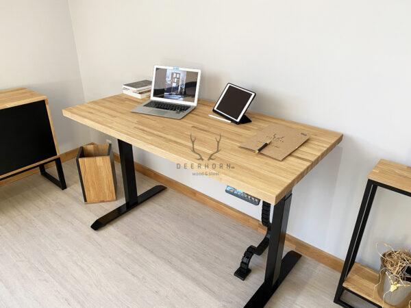 biurko industrialne z regulacją wysokości