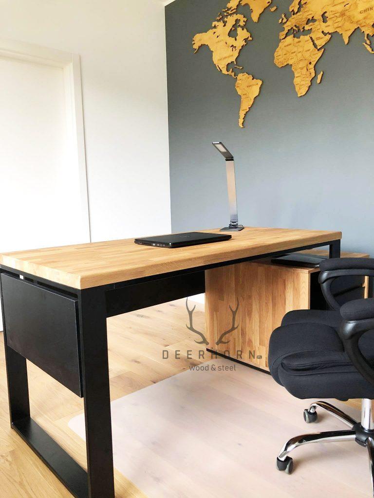 biurko zdrewna orazmetalu
