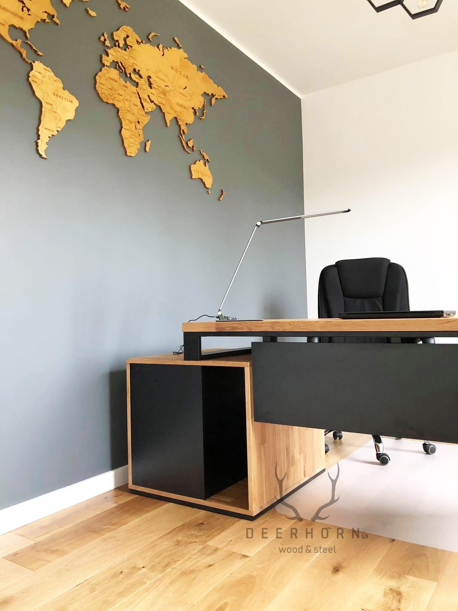 gabinet biuro w stylu loft