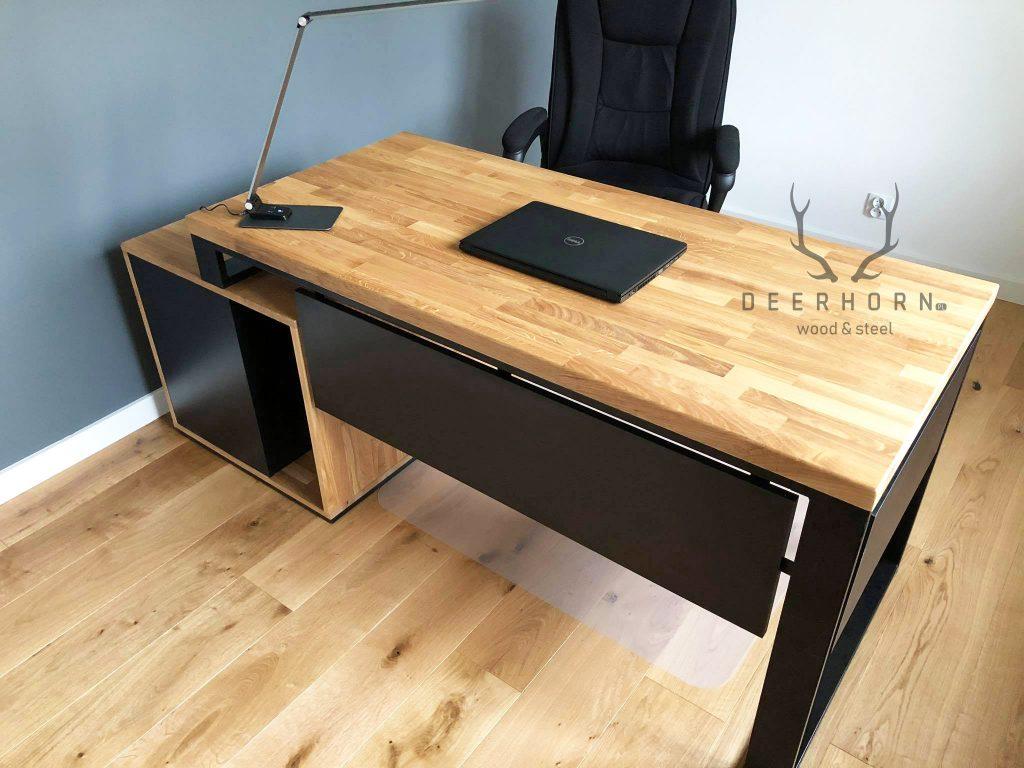 modne biurko wstylu loft