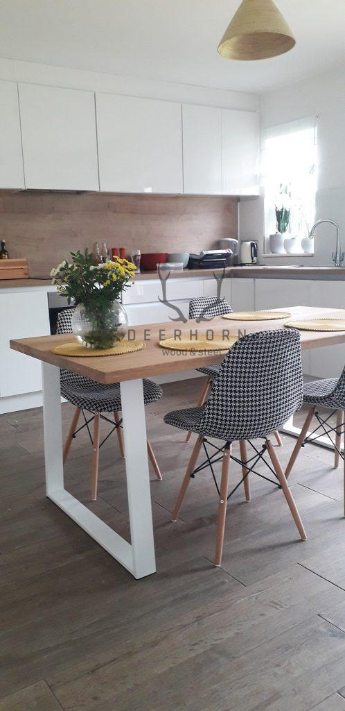biały stół loftowy