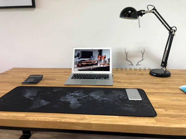 biurko loftowe z drewna
