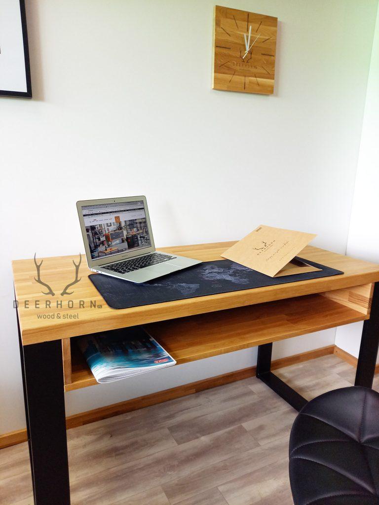 biurko zdrewnianym blatem dla ucznia
