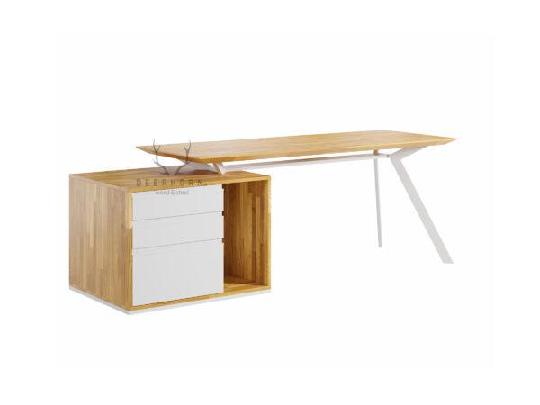 białe biurko premium