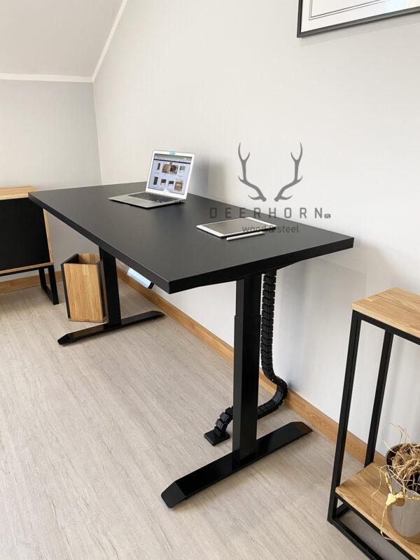 biurko czarne regulowane