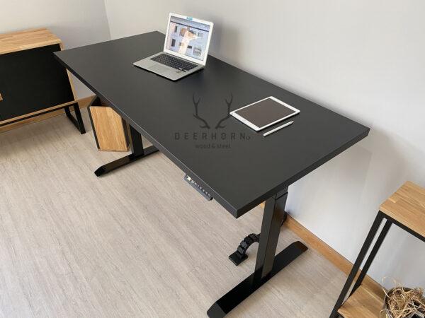 biurko czarne z regulacją