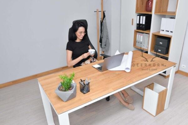 biurko białe loft