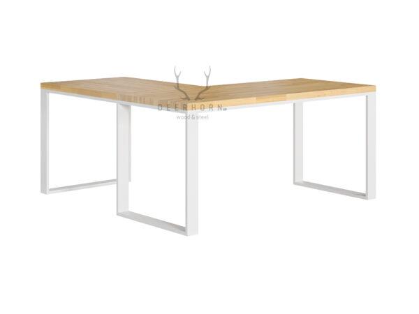 biurko białe narożne