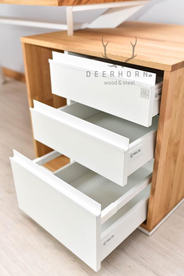 biurko gabinetowe z szufladami