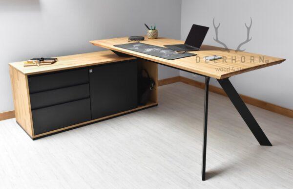 narożne biurko gabinetowe