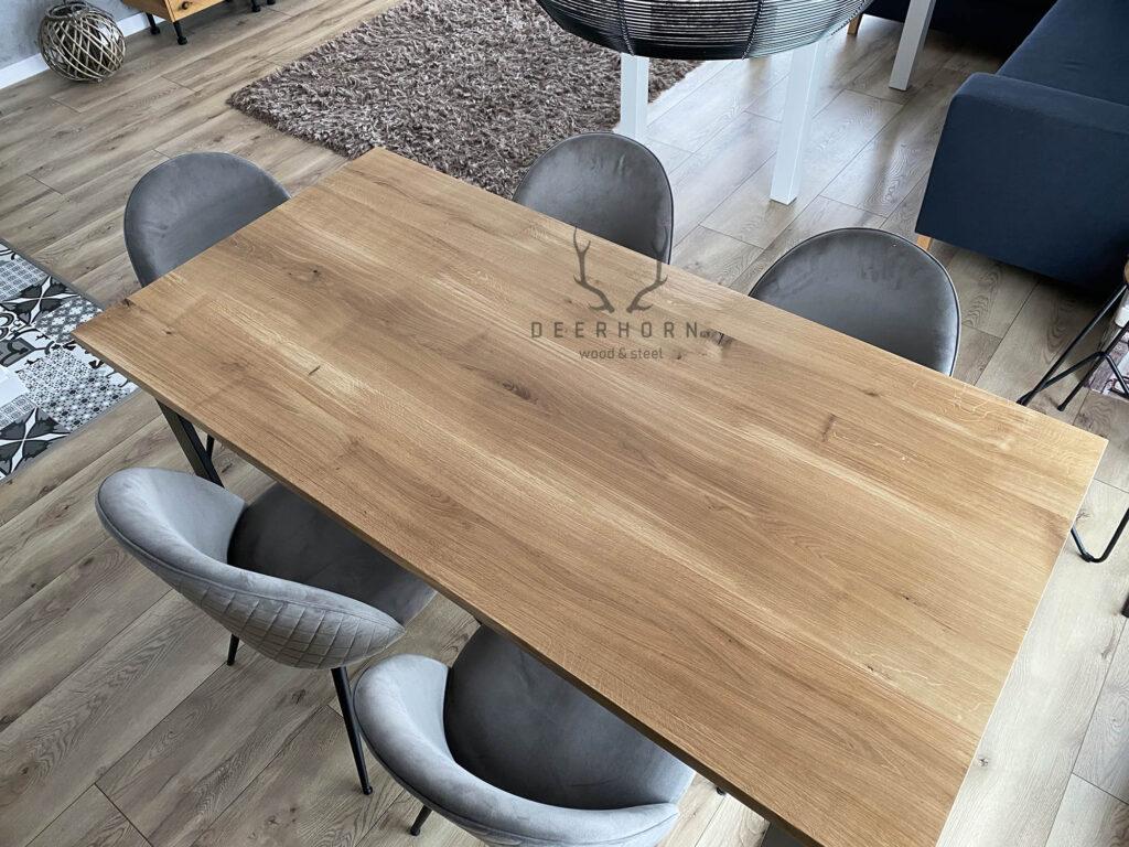 stół zmetalu idrewna