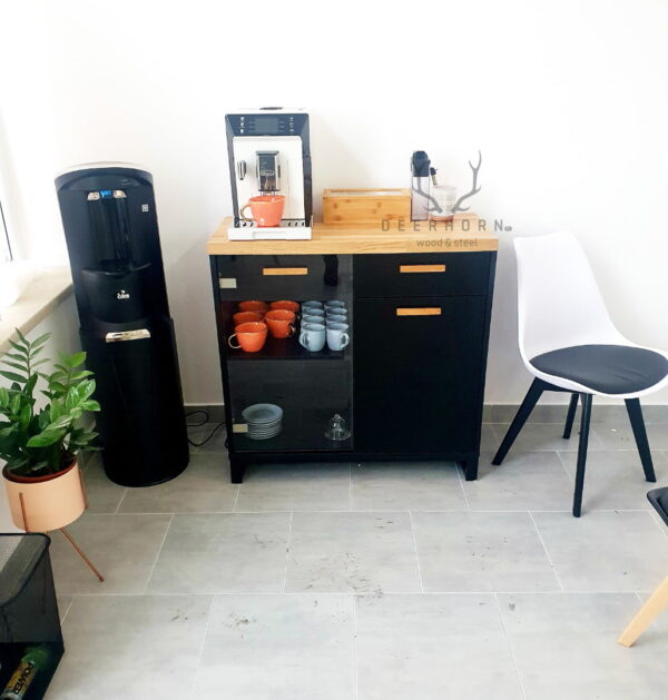 biurowa szafka pod ekspres do kawy