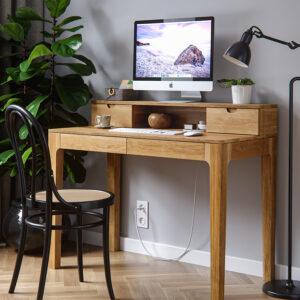 biurko dębowe, sekretarzyk