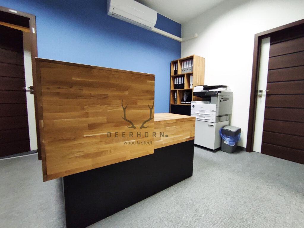 biurko recepcyjne loft