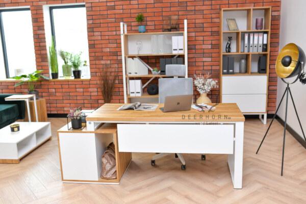 biurko białe gabinetowe