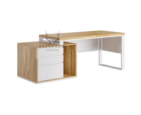 białe biurko loft office plus