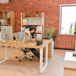 loftowe biurko narożne