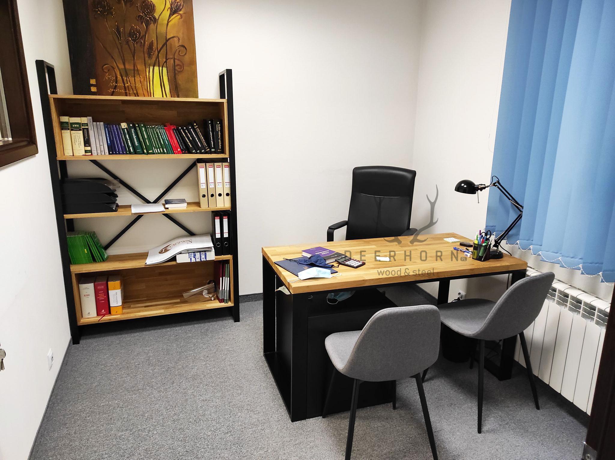 regał i biurko loft