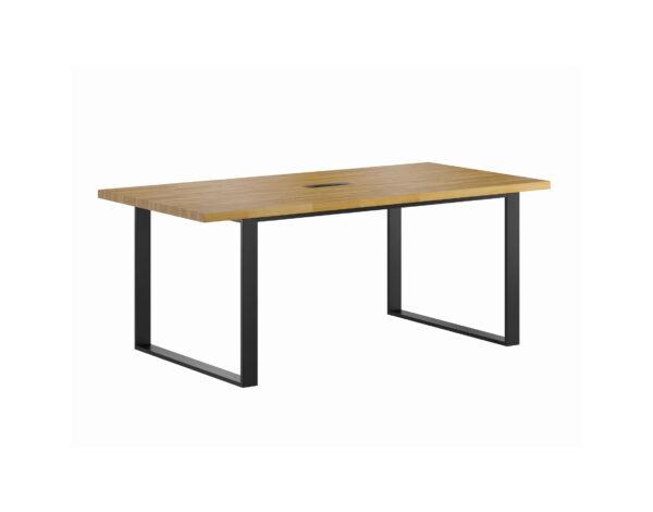 stoł konferencyjny z drewnianym blatem