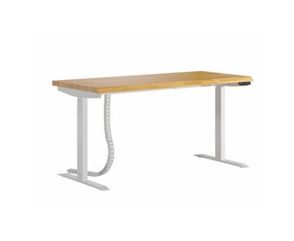 białe ergonomiczne biurko z regulacją