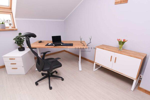 białe meble do biura i gabinetu