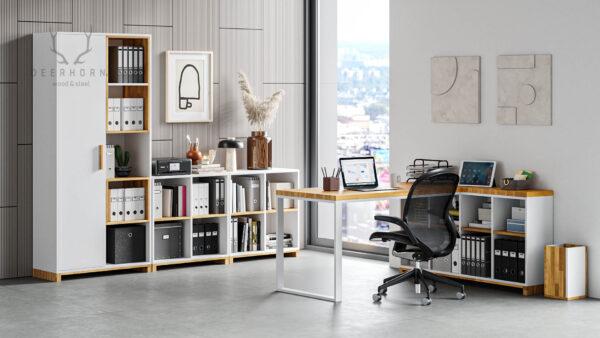 meble modern office białe