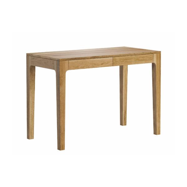 drewniane biurko z szufladami
