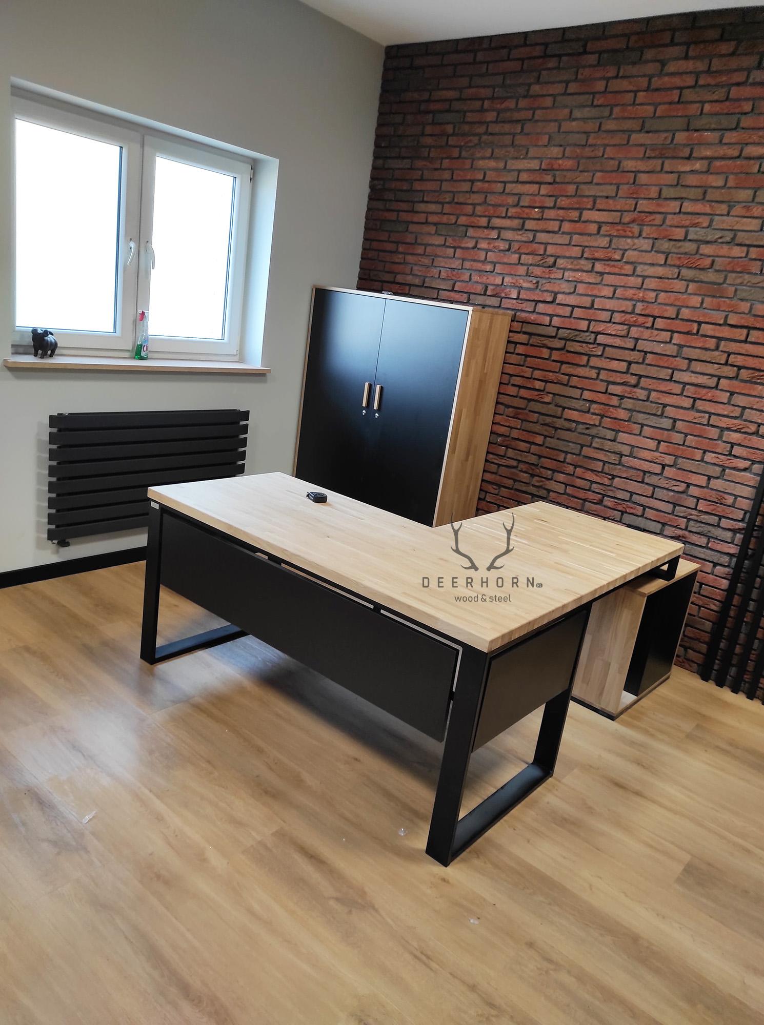 biurko narożne meble loftowe