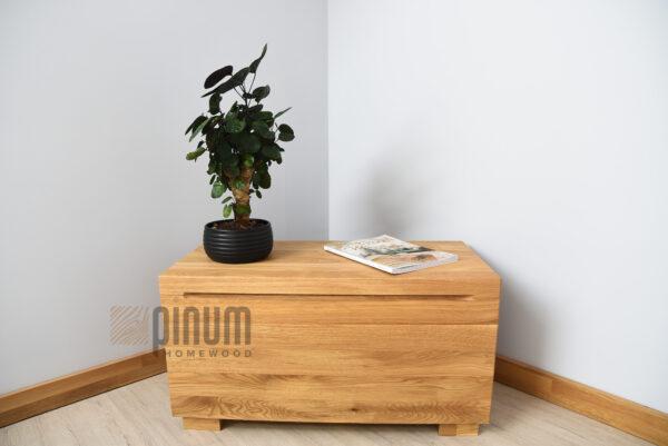 skrzynia z naturalnego drewna