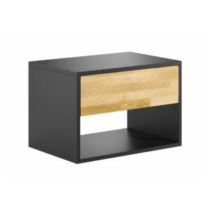 loftowa szafka nocna czarna