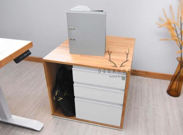 biała biurowa szafka